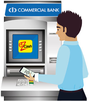 ez cash combank atm withdraw